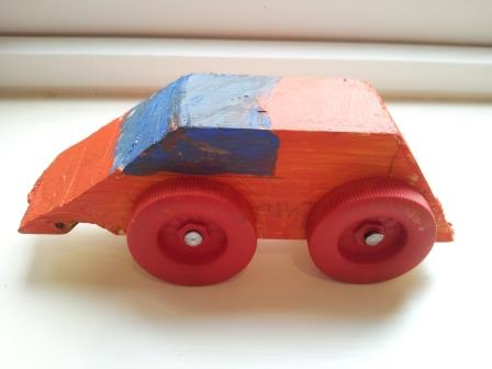 Samuel's Pinewood Derby Car @ Cubs