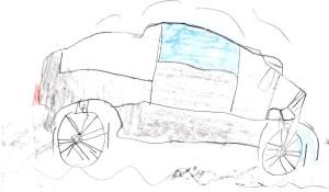 crop Toyota Land Cruiser