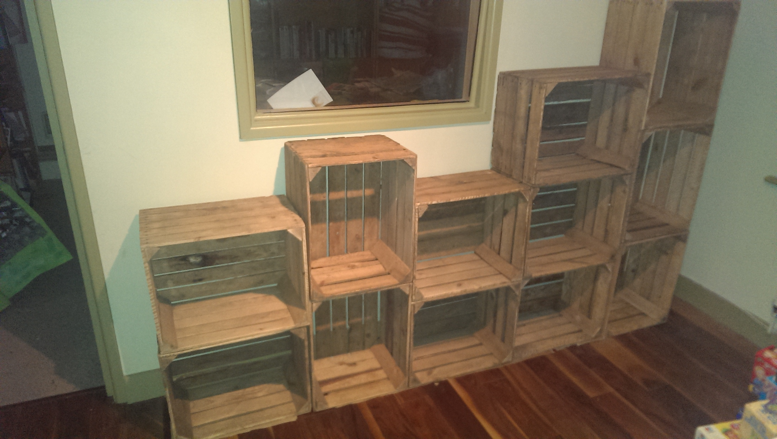 Creating a Crate Shelving Unit…